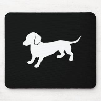 Dachshund Black and White Design Mouse Pad
