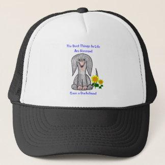 Dachshund Black Best Things In Life Hat