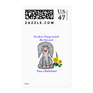 Dachshund Black Best Things In Life Postage