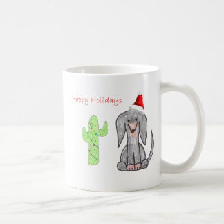 Dachshund Black Cactus Christmas Coffee Mug
