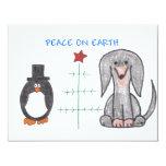 Dachshund Black Peace On Earth 4.25x5.5 Paper Invitation Card