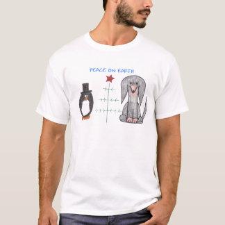 Dachshund Black Peace On Earth T-Shirt