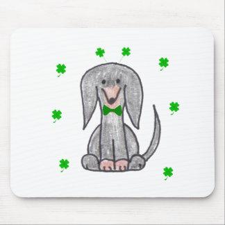 Dachshund Black Saint Patricks Day Mouse Pad