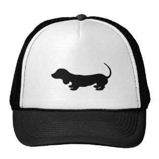 dachshund-black trucker hat