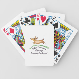 DACHSHUND BLESSINGS BICYCLE PLAYING CARDS