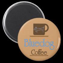 Dachshund, Blue Dog Coffee magnets