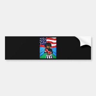 Dachshund Boxer Bumper Sticker