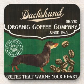 Dachshund Brand – Organic Coffee Company Beverage Coaster