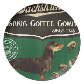 Dachshund Brand – Organic Coffee Company Dinner Plate