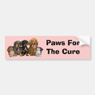 Dachshund Breast Cancer Bumper Sticker