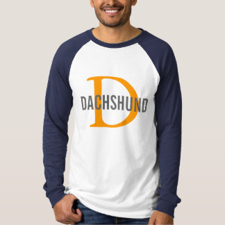 Dachshund Breed Monogram Design Shirt