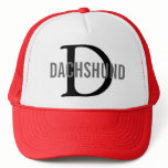 Dachshund Breed Monogram Design Trucker Hat