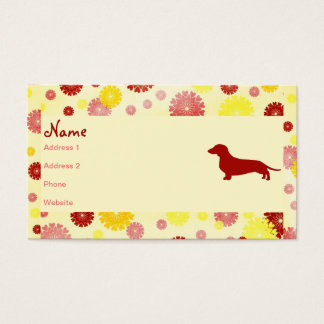 Dachshund Breeder Business Card