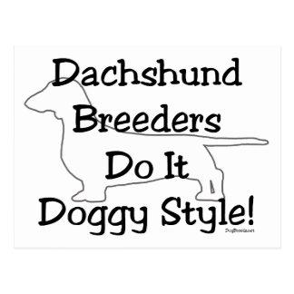 Dachshund Breeders Postcard
