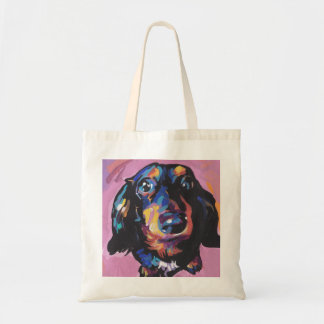 dachshund Bright Colorful Pop Dog Art Tote Bag