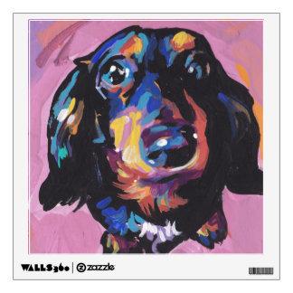 dachshund Bright Colorful Pop Dog Art Wall Decal