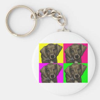 Dachshund Bright Dog Collage Basic Round Button Keychain
