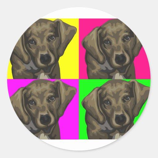 Dachshund Bright Dog Collage Sticker