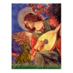 Dachshund (brown1) - ángel de la mandolina postales