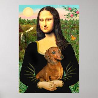Dachshund (brown1) - Mona Lisa Poster