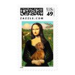 Dachshund (brown1) - Mona Lisa Stamp