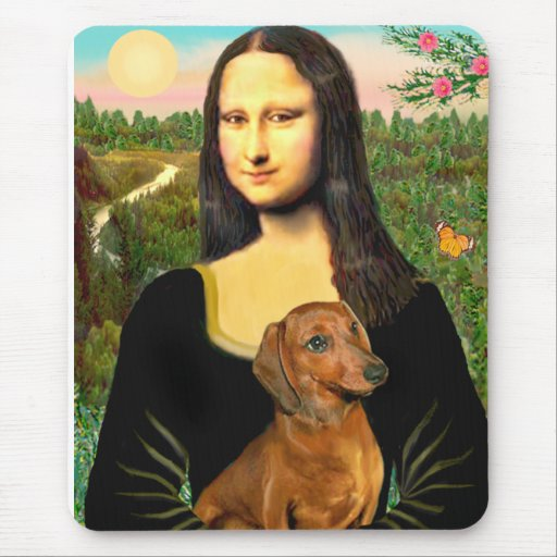 Dachshund (brown1) - Mona Lisa Tapete De Ratones