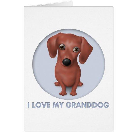 Dachshund (Brown) Granddog Card