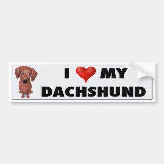 Dachshund (Brown) Love Sticker Bumper Stickers