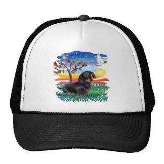 Dachshund (BT) - Sun Glow Trucker Hat