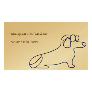 Dachshund business cards