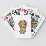 Dachshund cabelludo del alambre (f) baraja de cartas