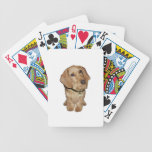 Dachshund cabelludo del alambre (f) baraja cartas de poker