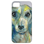Dachshund cabelludo liso iPhone 5 protectores