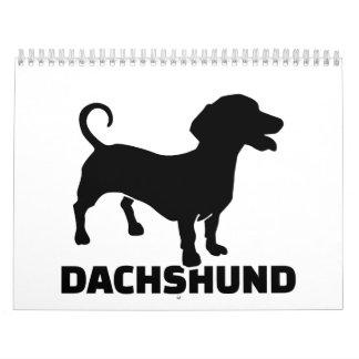 Dachshund Calendario De Pared