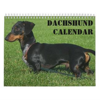 Dachshund Calendar Personalized