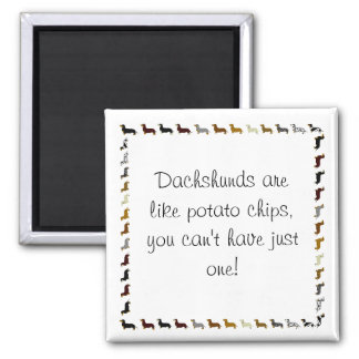 Dachshund-can't have just one 2 inch square magnet