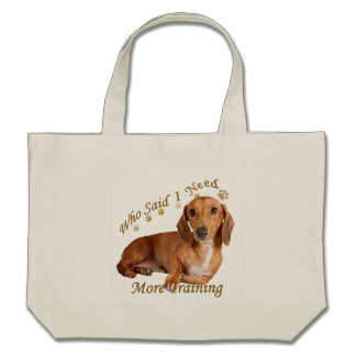 Dachshund Can't Have Just One Gifts Canvas Bags