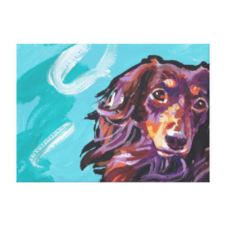 Dachshund Canvas Wrapped Pop Art