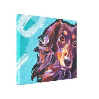 Dachshund Canvas Wrapped Pop Art