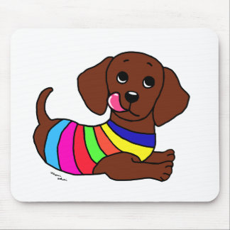 Dachshund Cartoon 1 Mouse Pad