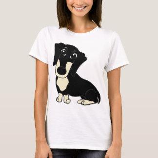 dachshund cartoon black and cream T-Shirt