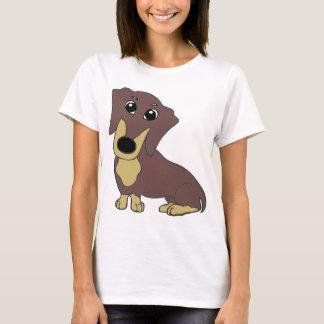 dachshund cartoon chocolate and tan T-Shirt