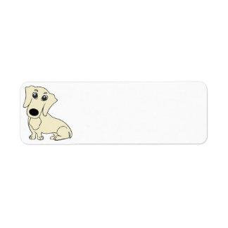 dachshund cartoon cream label