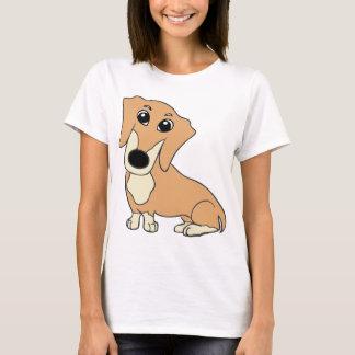 dachshund cartoon fawn and cream T-Shirt