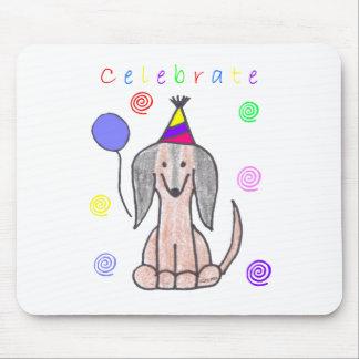 Dachshund Celebrate Mouse Pad