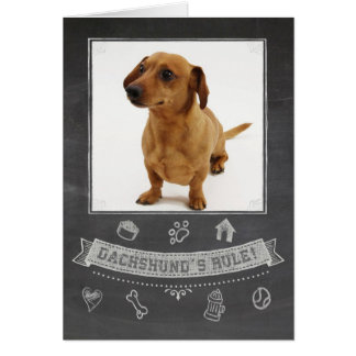 Dachshund Chalkboard Birthday Card