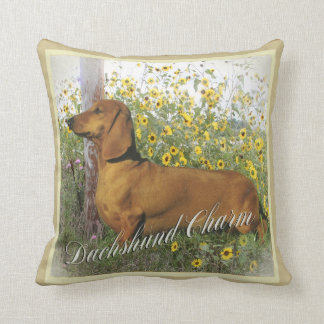 Dachshund Charm Pillow