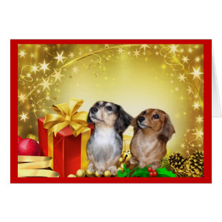 Dachshund Christmas Cards - Invitations, Greeting & Photo Cards ...