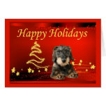 Dachshund Christmas Card Stars