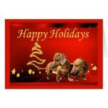 Dachshund Christmas Card Stars2